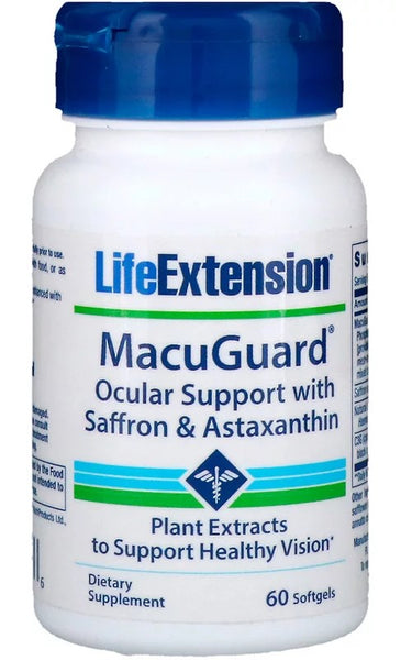 MacuGuard Ocular Support with Saffron & Astaxanthin - 60 softgels