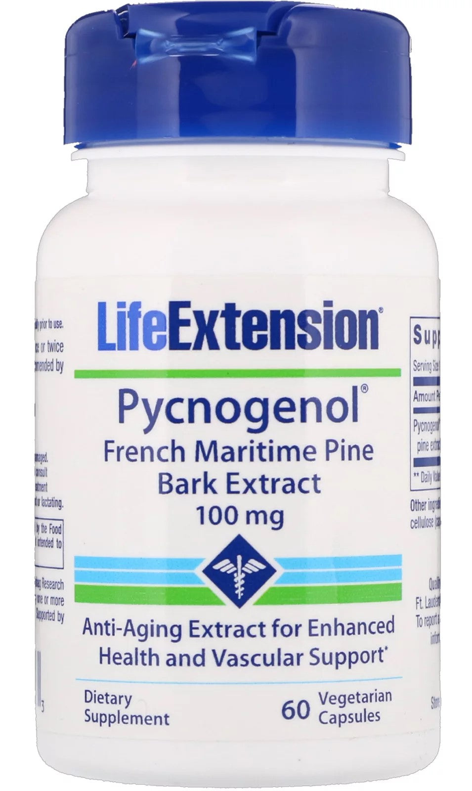 Pycnogenol French Maritime Pine Bark Extract, 100mg - 60 vcaps