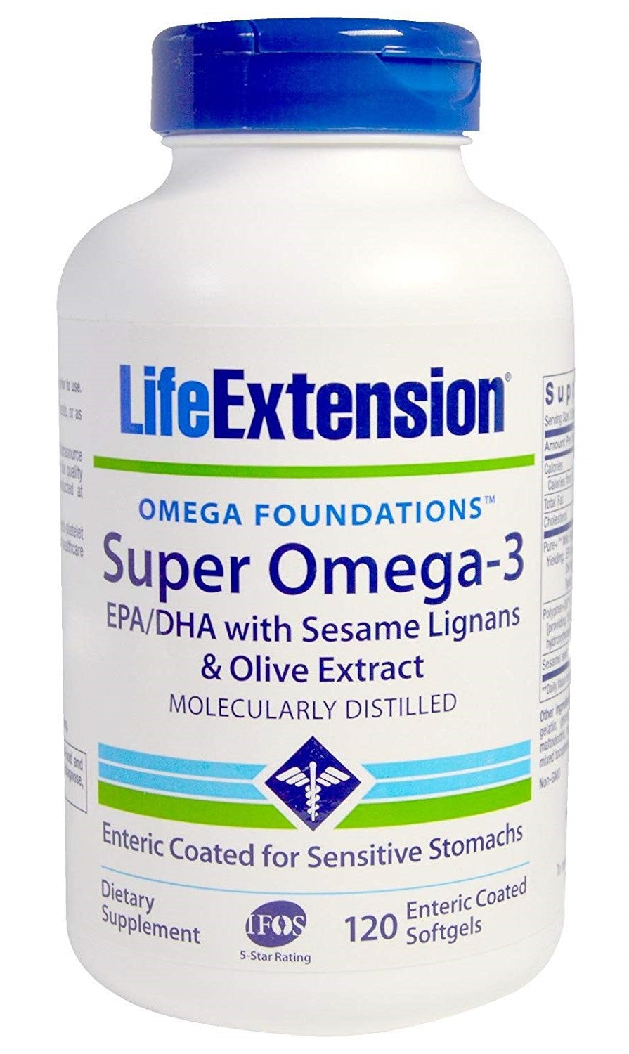 Super Omega-3 EPA/DHA with Sesame Lignans & Olive Extract - 120 softgels