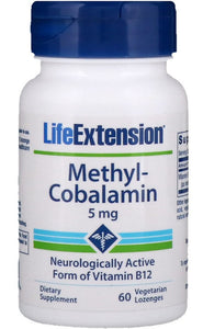 Methylcobalamin, 5mg - 60 vegetarian lozenges