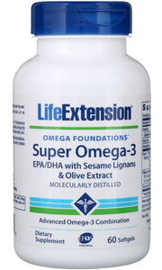 Super Omega-3 EPA/DHA with Sesame Lignans & Olive Extract - 60 softgels