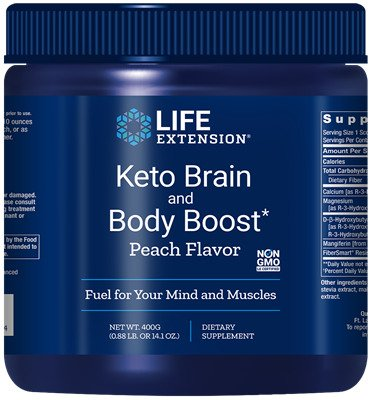 Keto Brain and Body Boost, Peach - 400 grams