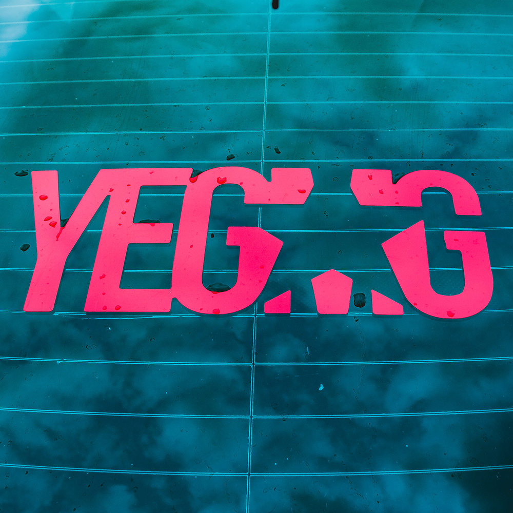 YEGMG RED CAR DECAL