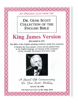 "LIMITED EDITION Dr. Gene Scott 91st Birthday Commemorative Package- An Authentic Bible Leaf printed circa 1600 and Certificate of Authenticity Signed by Dr. Gene Scott and a 2 ""Nitro Pill"" DVD Set from the early years."