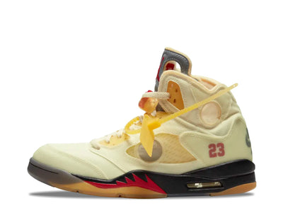 "Off-White Air Jordan 5 Retro ""Sail"" SYRUP"