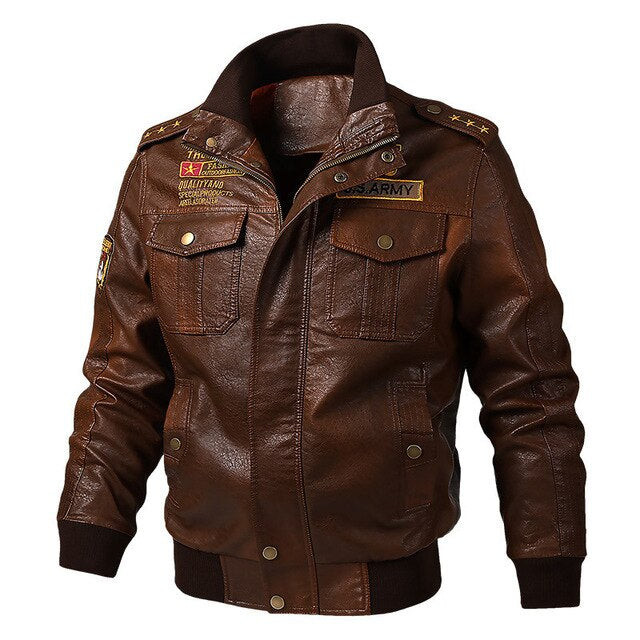 Men's Leather Jacket Biker