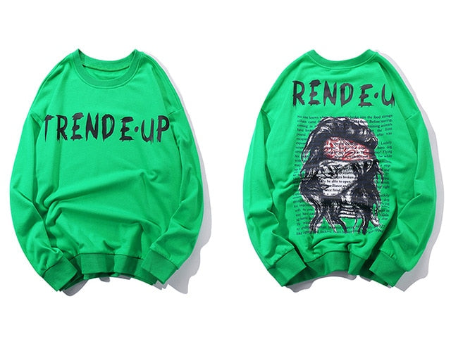 Hip Hop Trend Pullover Outwear