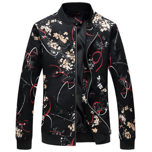 Blackout Floral Casual Jacket