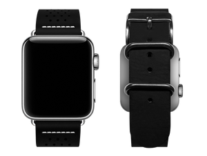 black dotted custom apple watch band