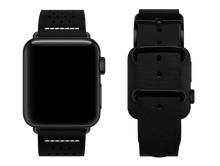 Load image into Gallery viewer, black dotted custom apple watch strap