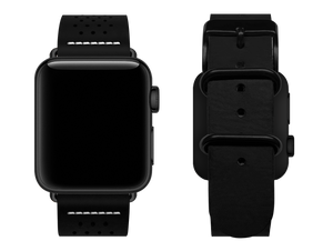black dotted custom apple watch strap