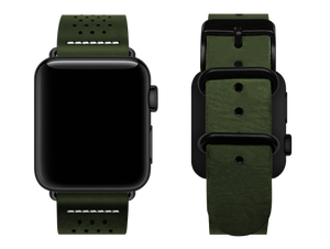 green dotted custom apple watch strap