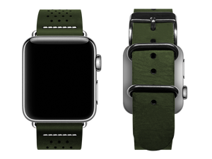 green dotted custom apple watch band