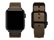 Load image into Gallery viewer, light brown dotted custom apple watch strap