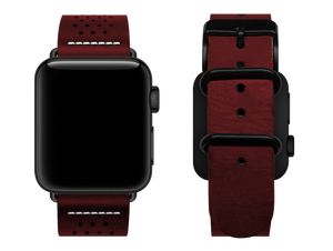 red dotted custom apple watch strap