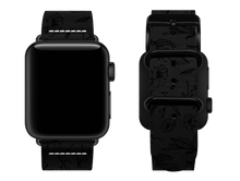 Load image into Gallery viewer, black floral custom apple watch strap