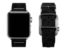 Load image into Gallery viewer, black floral custom apple watch band