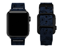 Load image into Gallery viewer, blue floral custom apple watch strap