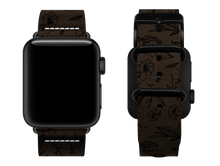 Load image into Gallery viewer, brown floral custom apple watch strap