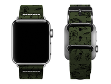 Load image into Gallery viewer, green floral custom apple watch band