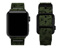 Load image into Gallery viewer, green floral custom apple watch strap