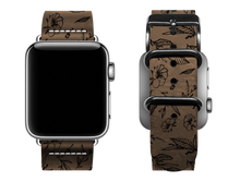 Load image into Gallery viewer, light brown floral custom apple watch band