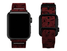 Load image into Gallery viewer, red floral custom apple watch strap