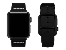 Load image into Gallery viewer, simple black custom apple watch strap