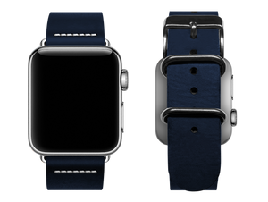 simple blue custom apple watch band