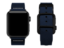 Load image into Gallery viewer, simple blue custom apple watch strap