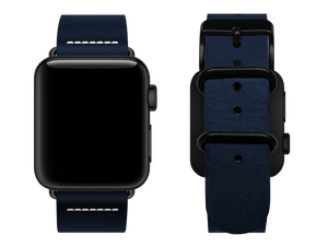 simple blue custom apple watch strap