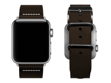 Load image into Gallery viewer, simple dark brown custom apple watch band
