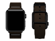 Load image into Gallery viewer, simple brown custom apple watch strap