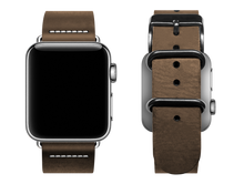 Load image into Gallery viewer, simple light brown custom apple watch band
