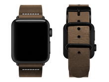 Load image into Gallery viewer, simple light brown custom apple watch strap