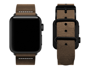 simple light brown custom apple watch strap