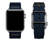 Load image into Gallery viewer, blue striped custom apple watch band