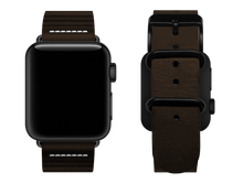 Load image into Gallery viewer, brown striped custom apple watch strap