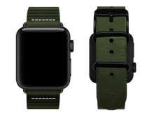 Load image into Gallery viewer, green striped custom apple watch strap