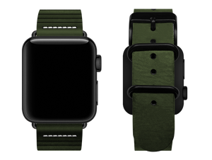 green striped custom apple watch strap