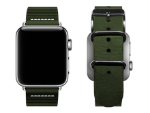 Load image into Gallery viewer, green striped custom apple watch band