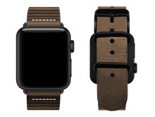 Load image into Gallery viewer, light brown striped custom apple watch strap