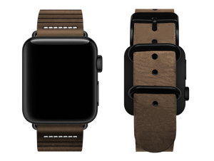 light brown striped custom apple watch strap