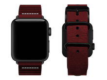 Load image into Gallery viewer, red striped custom apple watch strap