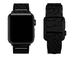 black woodgrain custom apple watch strap