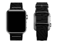 Load image into Gallery viewer, black woodgrain custom apple watch band