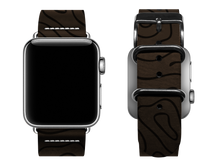 Load image into Gallery viewer, dark brown woodgrain custom apple watch band