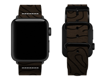 Load image into Gallery viewer, brown woodgrain custom apple watch strap