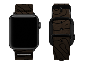 brown woodgrain custom apple watch strap