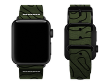 Load image into Gallery viewer, green woodgrain custom apple watch strap